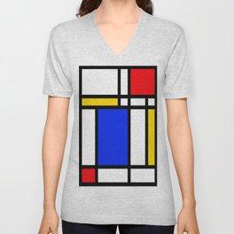 Mondrian Unisex V-Neck