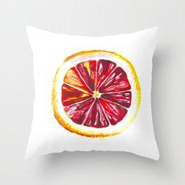 Blood Orange Throw Pillow