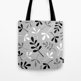 Assorted Leaf Silhouettes Monochrome Tote Bag