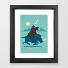 The Decider Framed Art Print