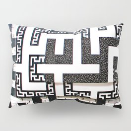 Greek Key Black and white Pillow Sham