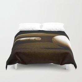 Pool Table-Sepia Duvet Cover