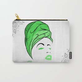 Lady Wrap (green) Carry-All Pouch