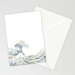 Minimal Wave Stationery Cards