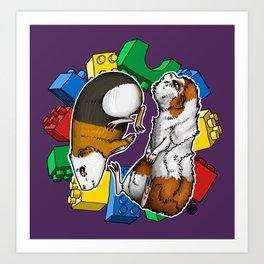 Cavy Lego Art Print