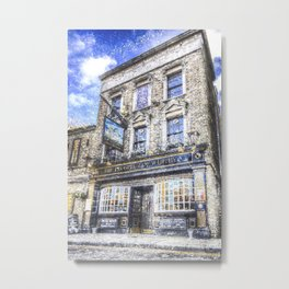 Prospect of  Whitby Pub London 1520 art Metal Print