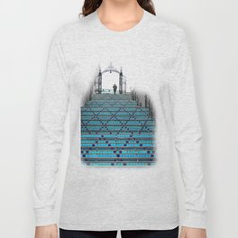 Mystery Man on the Blue Stairway to Heaven, Kansas City Long Sleeve T-shirt