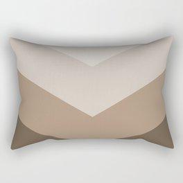 Brown Taupe Chevron Stripes Rectangular Pillow