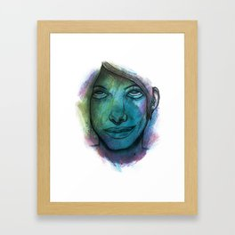 Colourful face Framed Art Print