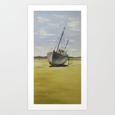 Beached at Bunbeg Art Print