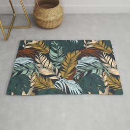 Colorful palm leaves 7 Rug