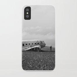 Iceland Plane Wreckage iPhone Case