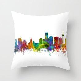 Essen Germany Skyline Throw Pillow