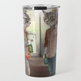 A Cats Night Out Travel Mug