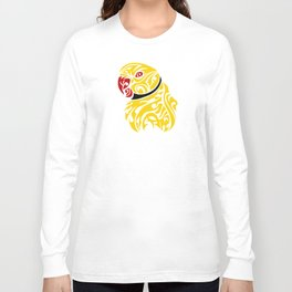 Lutino ringneck parrot tattoo Long Sleeve T-shirt