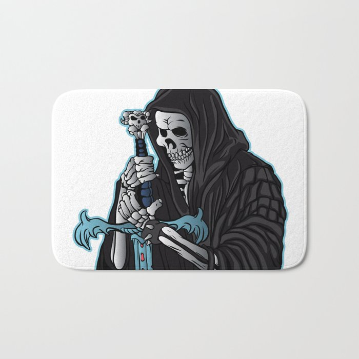 Grim Reaper With Sword Grim Reaper Tattoo Bath Mat By Marios