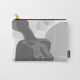 Covered With Line Carry-All Pouch