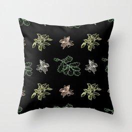 Quercus (black) Throw Pillow