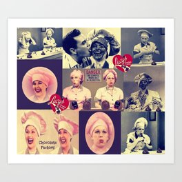 RETRO LUCY COLLAGE Art Print