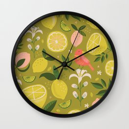 Pink Lemon's Wall Clock