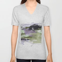 Abstract Five Unisex V-Neck