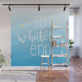 To Whatever End (Blue) Wall Mural