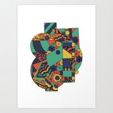 Geomets Art Print