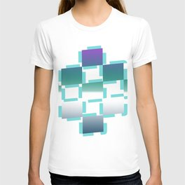 blue white purple rhombus T-shirt