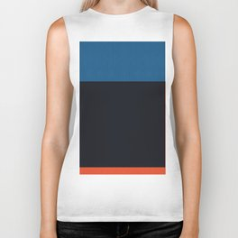 Blue and red composition XXII Biker Tank