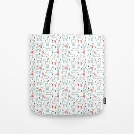 Holiday Llamas Tote Bag