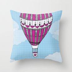 Hot Air Balloon, Spanish Throw Pillow