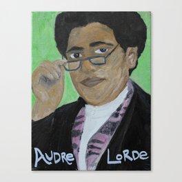 Audre Lorde, black lesbian warrior woman poet Canvas Print