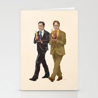 the office Stationery Cards featuring The Office by Dave Collinson