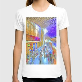 Kings Cross Station London Art T-shirt