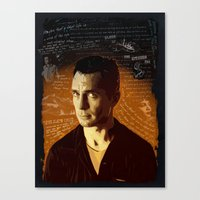 kerouac Canvas Prints featuring Kerouac by Pete Lloyd