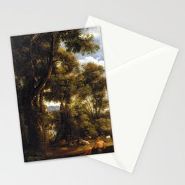John Constable Landscape with Goatherd and Goats Stationery Cards