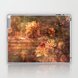 Postcard with lyrics by Lord Byron Laptop & iPad Skin
