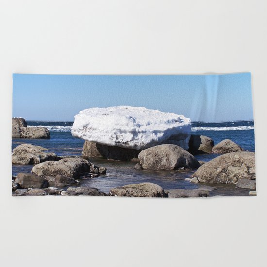 Perched on the Boulders Beach Towel