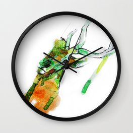 Deerface Wall Clock
