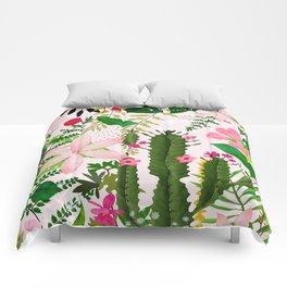 pink desert flowers Comforters