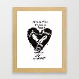 Life Lessons: Tampons Framed Art Print