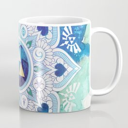 A Legendary Blue/Green Zelda Mandala Coffee Mug