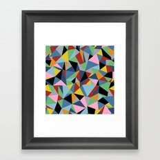 Ab Repeat Black Framed Art Print