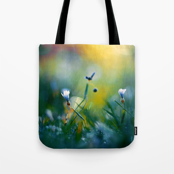 On a Sunny Field Tote Bag