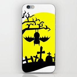 Creepy Hanging Bat iPhone Skin