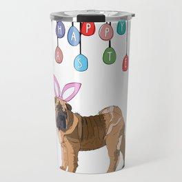 Happy Easter - Shar Pei Easter Bunny Travel Mug