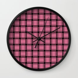 Dark Pink Weave Wall Clock