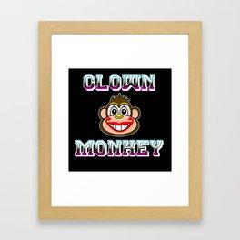 CLOWN MONKEY Framed Art Print