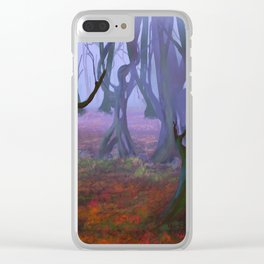 Petrified Willows Clear iPhone Case