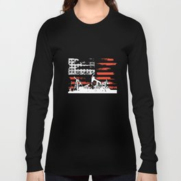 Oilfield Patriotic Flag With Oil Pumping Rig american t-shirts Long Sleeve T-shirt